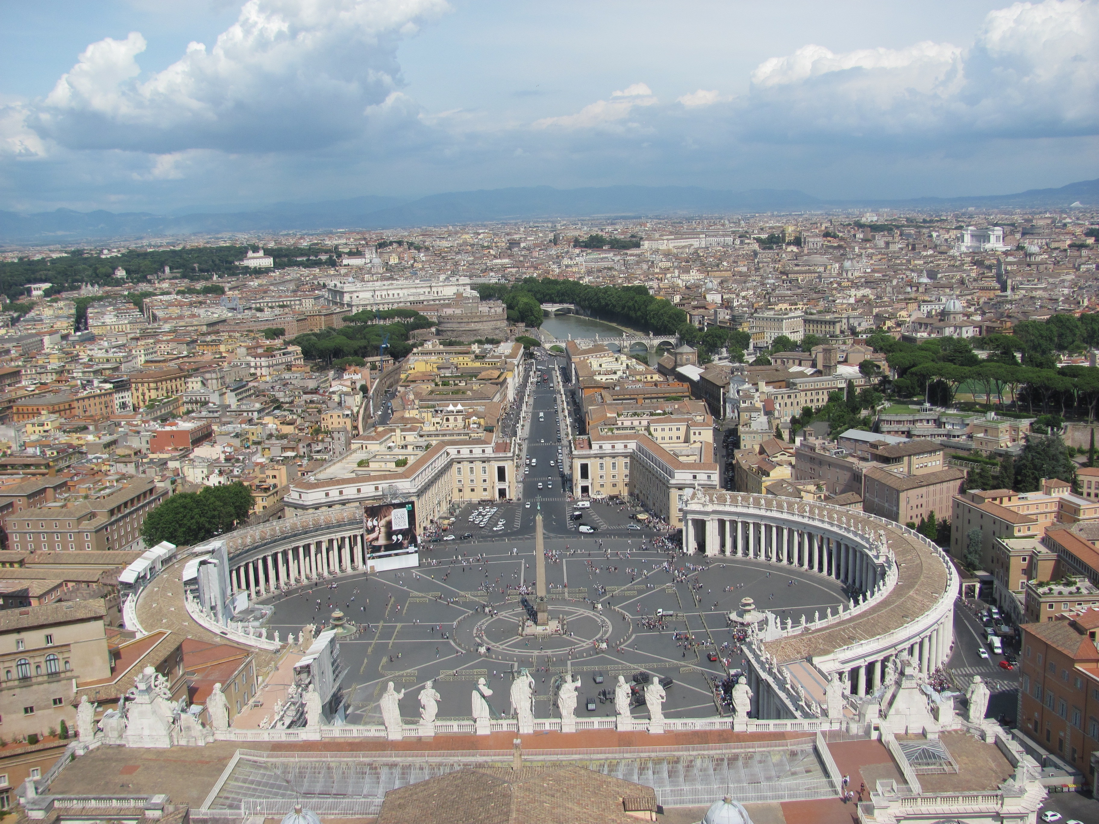 Rome from the top of St Peter Basilica